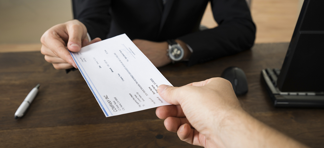 Priority One Payroll-giving an employee a final check
